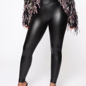 FASHION NOVA LILIANA FAUX LEATEHR LEGGINGS